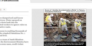 Radioactive waste dumped into rivers during decontamination work in Fukushima