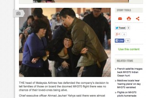 Flight 370: The news no-one wanted to hear