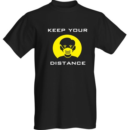 Keep your distance COVID-19 YELLOW